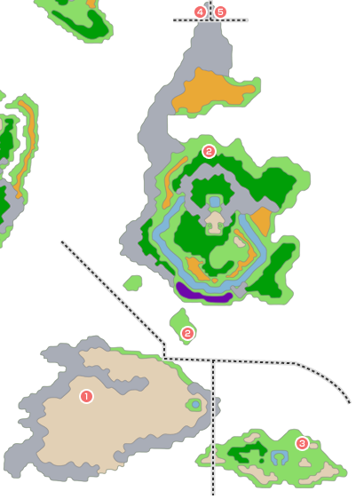 モンスター分布図 テルパドール周辺 - メダル王の城周辺