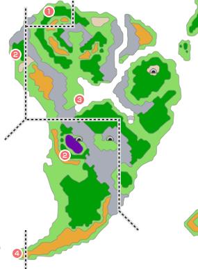 モンスター分布図 - 青年時代前半5(グランバニア周辺)