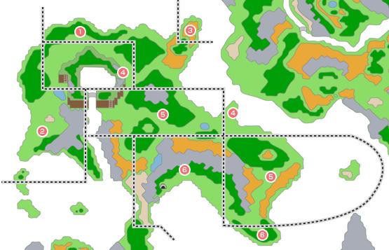 モンスター分布図 - 青年時代後半2(ルラフェン周辺~ポートセルミ周辺)