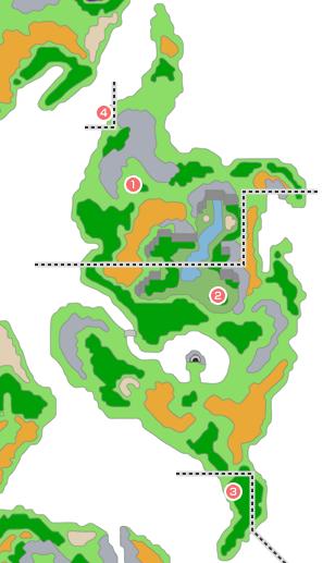 モンスター分布図 - 青年時代後半4(エルヘブン周辺)