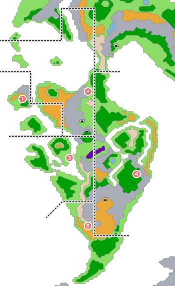 モンスター分布図 - 青年時代後半5(サラボナ周辺)
