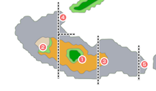 モンスター分布図 - 青年時代後半8(ボブルの塔周辺)
